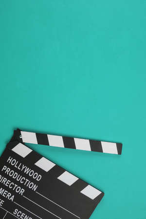 clapperboard flat lay. Resolution and high quality beautiful photo