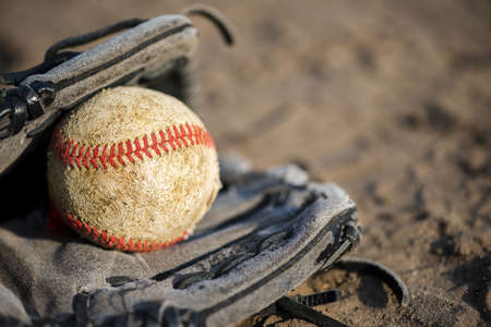 baseball glove with copy space. Resolution and high quality beautiful photo Banco de Imagens