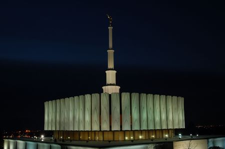 lds: provo utah LDS temple Stock Photo