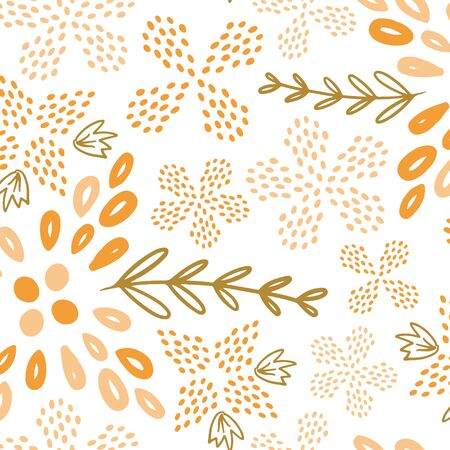 Yellow summer flower seamless pattern. Great for floral product design, fabric, wallpaper, backgrounds, invitations, packaging design projects. Surface pattern design.