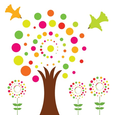 Colorful vector tree Stock Vector - 10953653