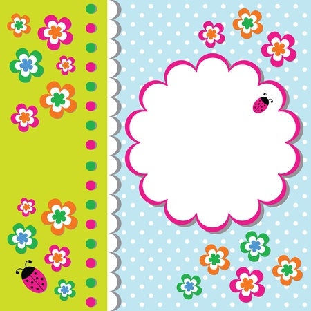Floral card Stock Vector - 10953656