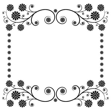 bordure de page: D�coration florale la page Illustration