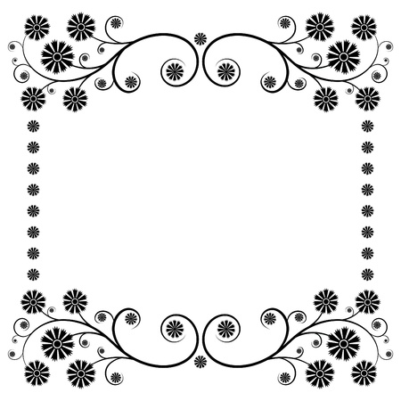 border silhouette: Floral page decoration