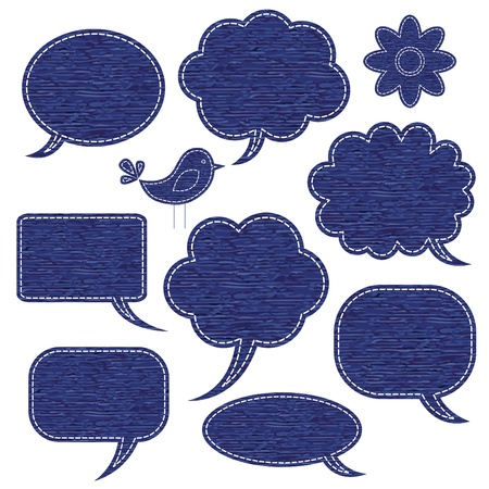 Jeans speech bubbles Illustration