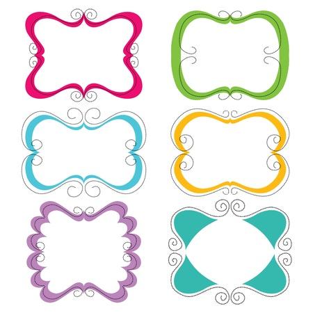 Cute frames set  Illustration