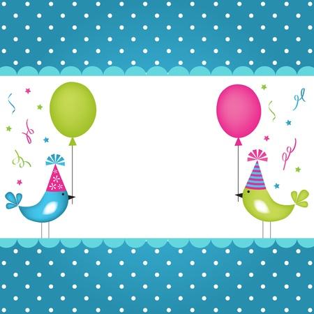 greeting card background: Birthday background  Illustration