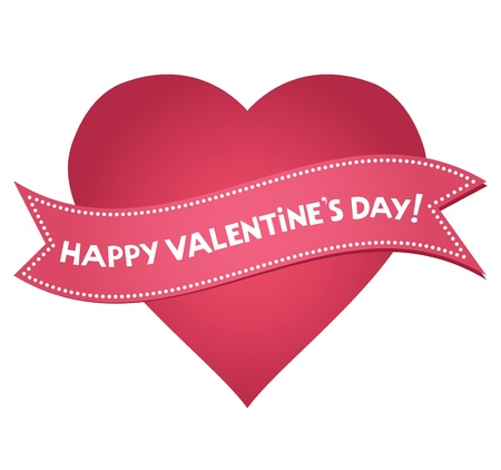 Valentines Day heart with lettering  Illustration