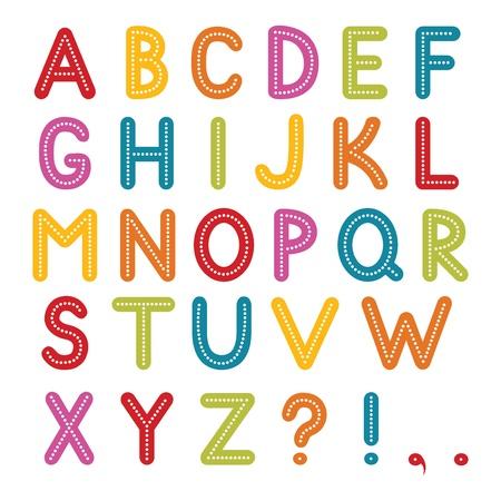 festive: font, A to Z alphabet