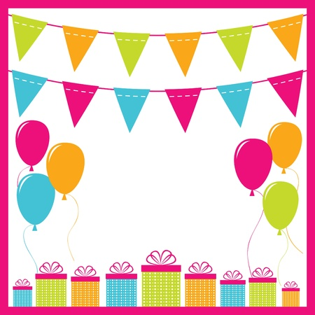 bunting: Birthday background  Illustration