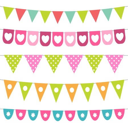 bunting flags: Bunting design elements