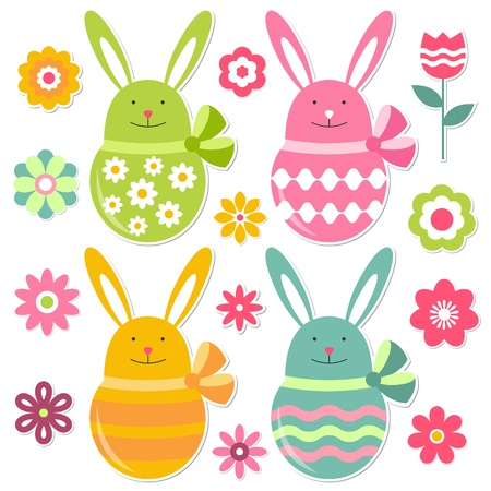 Easter vector elements collection