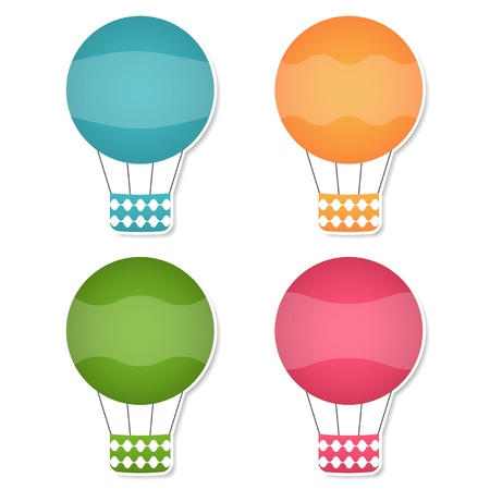 Air balloons design elements Vector