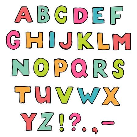 hand written: Grunge font, A to Z alphabet, hand written