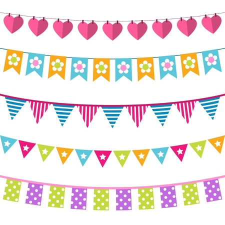 collections: Vector bunting set