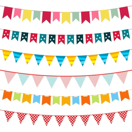 the pennant: Vector bunting set