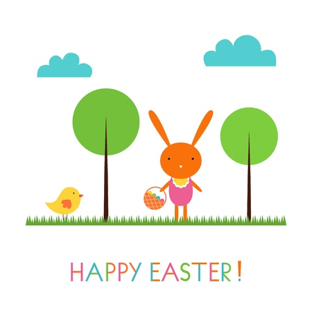 Baby bunny Easter card Stock Vector - 12952762
