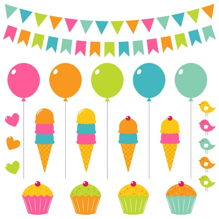 Birthday elements set Stock Vector - 13037828