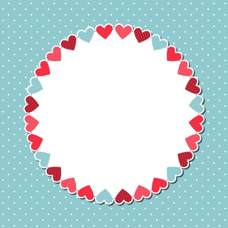round frame: Cute card with copy space Illustration