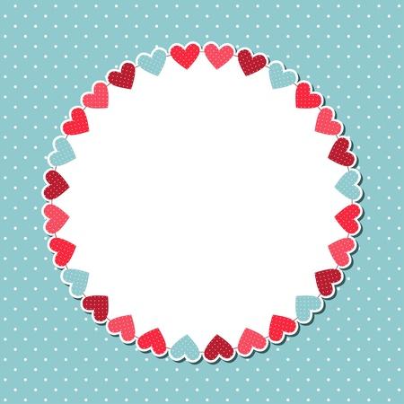Cute card with copy space Ilustração