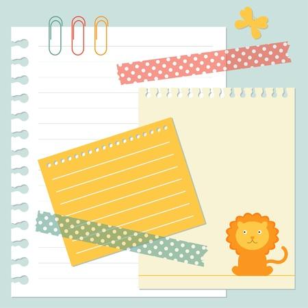 Notepaper set Vector