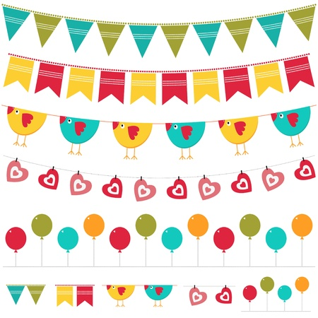 Bunting and garland collection Stock Vector - 13925237