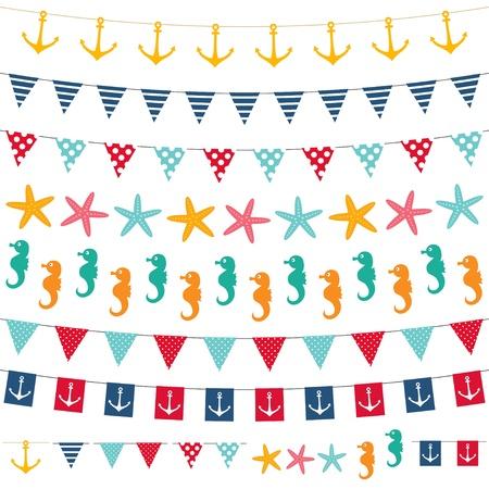 estrella de mar: Marina Bunting conjunto Vectores