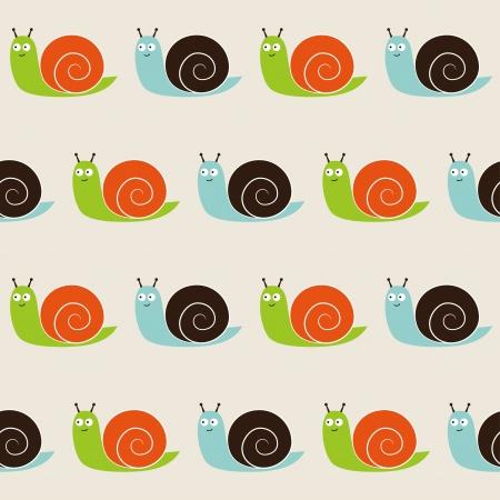 Seamless snails pattern