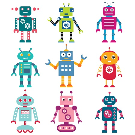 Robots ingesteld Stock Illustratie