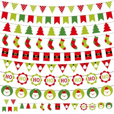 motivos navideños: Navidad guirnaldas establecer