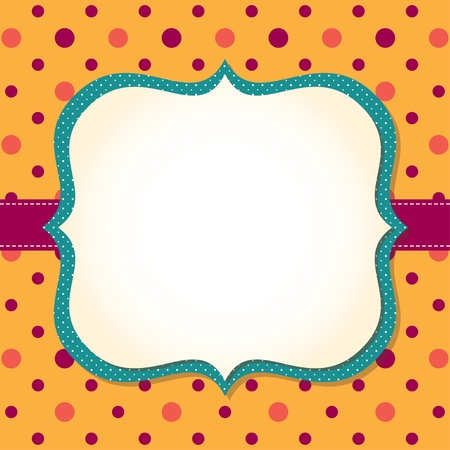 Cute frame background Stock Vector - 15146131