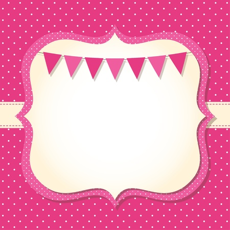 Baby girl arrival or shower card Ilustrace