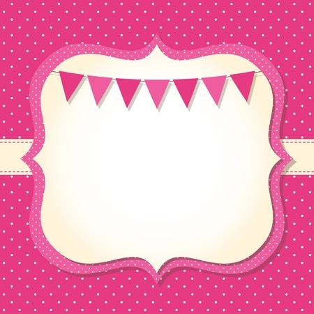 Baby girl arrival or shower card Ilustração