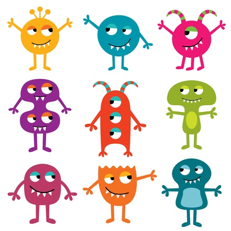 Friendly monsters set Stock Vector - 15893932