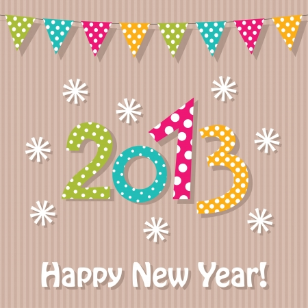 New Year 2013 card Illustration
