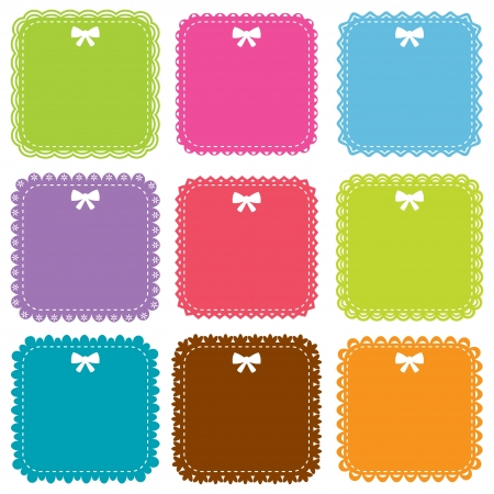 Cute square frames set Illustration