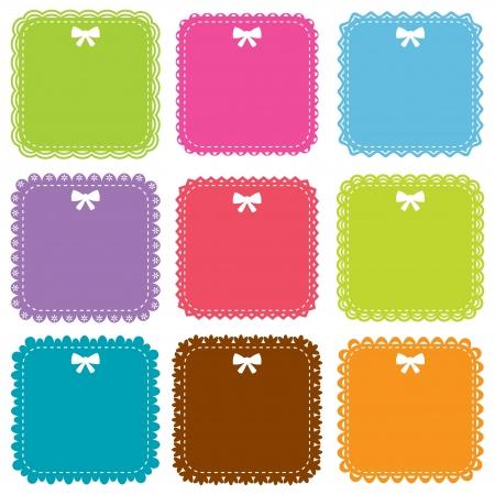 Cute square frames set Stock Vector - 16016761