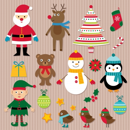 rudolf: Christmas  set Illustration
