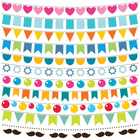 Buntings and party strings set