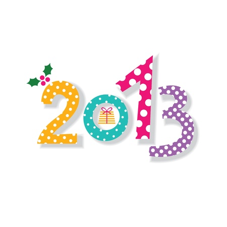 2013 New Year card Stock Vector - 16616579