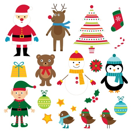 Christmas design elements set Illustration