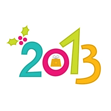 New Year 2013 card Stock Vector - 16854391