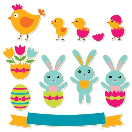 Easter design elements set Stock Vector - 17188903