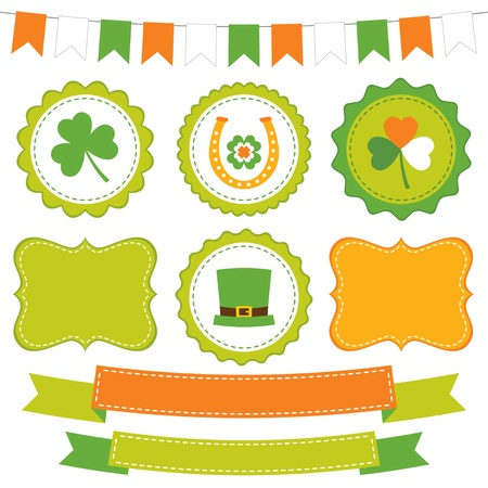 St  Patrick s Day design elements set Illustration
