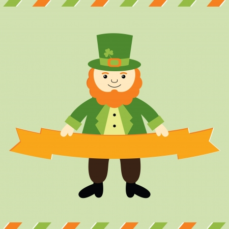 St  Patrick s Day with leprechaun Illustration