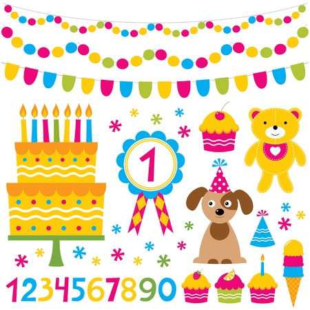 puppies: Birthday party set