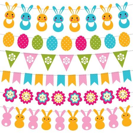 Easter garlands set