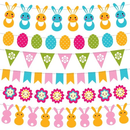 Easter garlands set