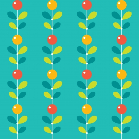 Seamless pattern with colorful berries