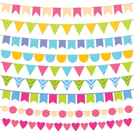 Birthday party decorations set Vector